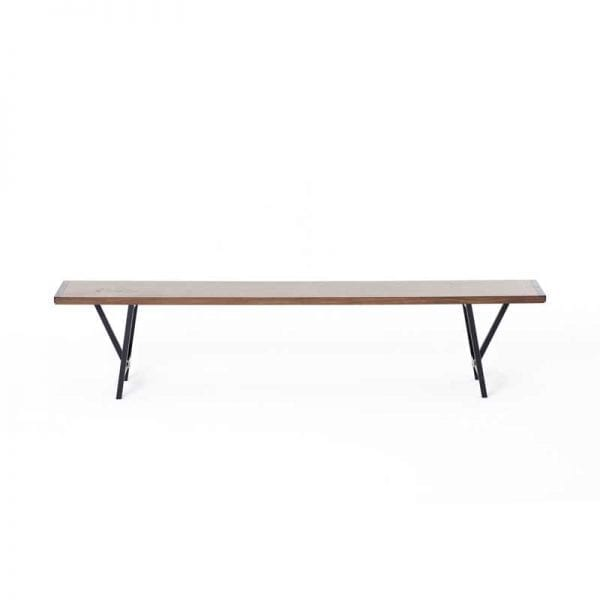 Dark Wooden bench seat for hire