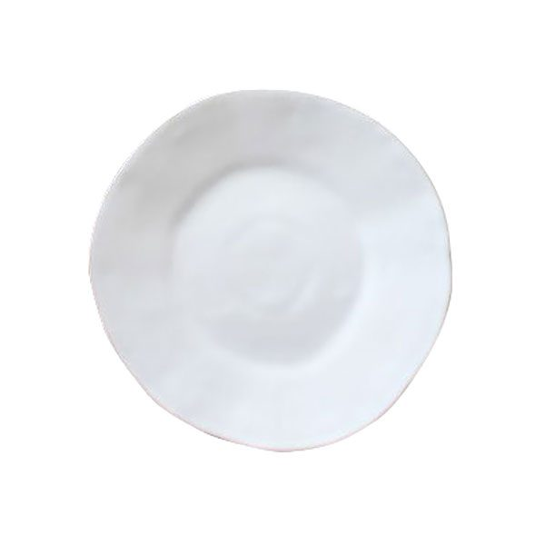 white dinner plate hire